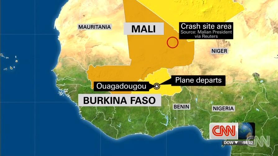 New video of Air Algerie crash site