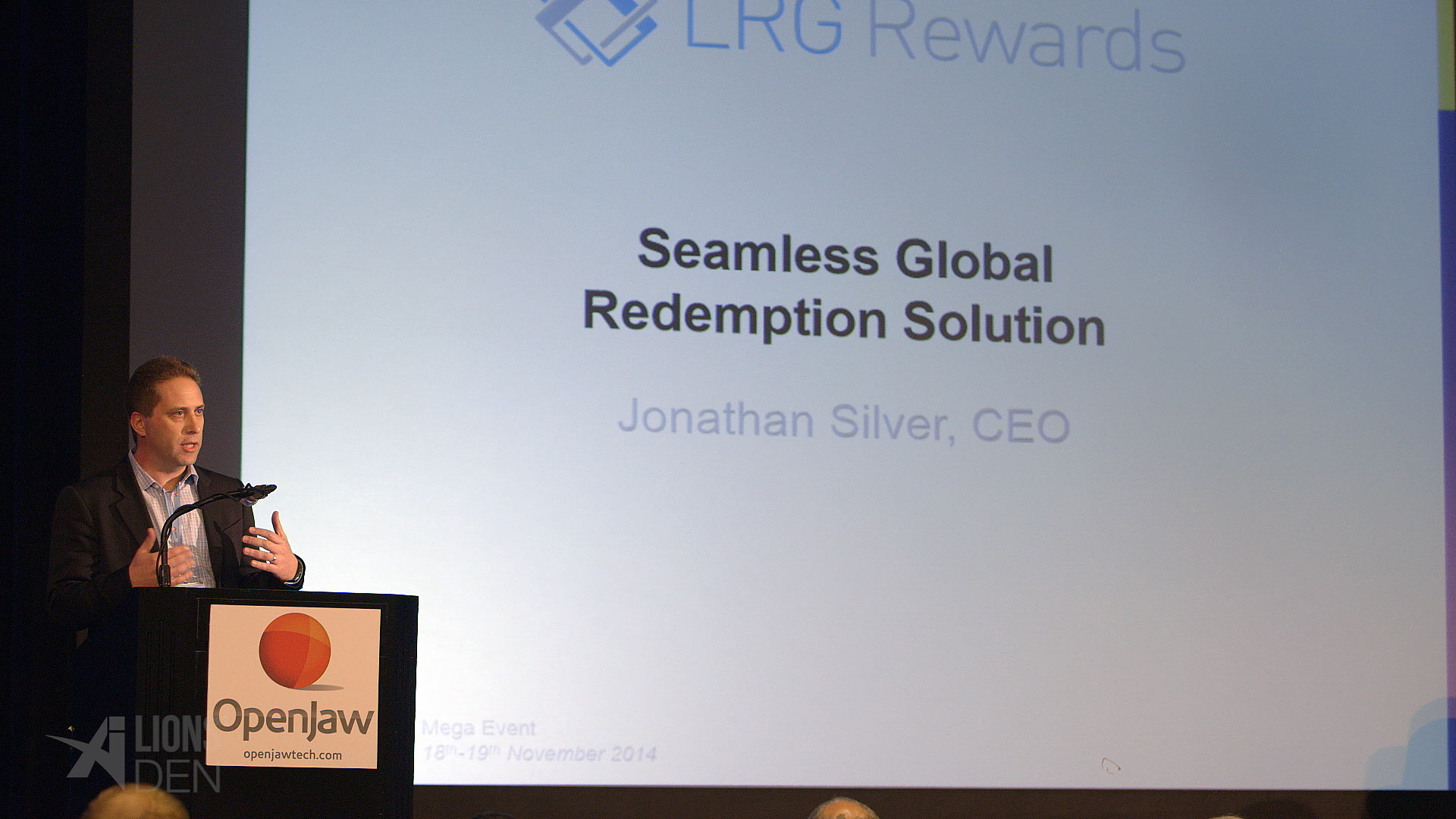 Jonathan Silver from LRG Rewards in the Lions' Den